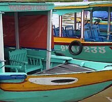 River Boats, Hoi An in Vietnam by Kristi Robertson