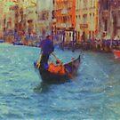 Gondola in Venice by Donna Macarone