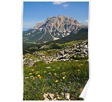 Panorama from Dolomites near Falzarego Pass Cortina - Italy Poster