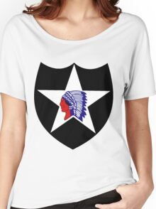 Logo of the Second Infantry Division, U. S. Army Women's Relaxed Fit T-Shirt