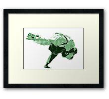 Judo Throw in Gi 2 Green Framed Print