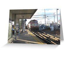 1135 MBTA Commuter Rail at Needham Heights Greeting Card