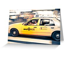 NYC Taxi crossing Greeting Card