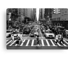 NYC Street Crossing Canvas Print
