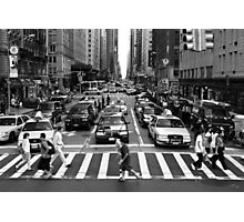 NYC Street Crossing Photographic Print
