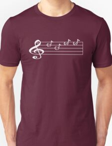 KISS - Words in Music - V-Note Creations (white text) T-Shirt