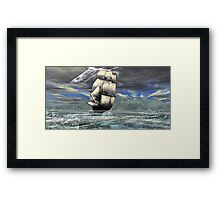 The Grand Turk3  Riding the Storm Framed Print