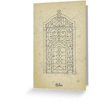 Italian oldstyle vintage door Greeting Card