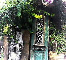 whats behind the green door? by larry flewers