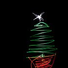 Xmas Tree Light Painting by Malc Foy