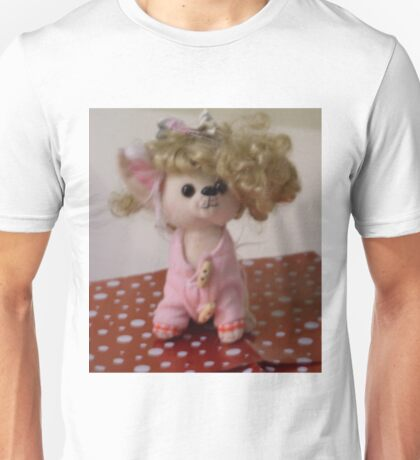Out Of Focus Soft Toy With Wig Unisex T-Shirt