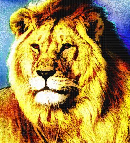 MALE LION-3 Sticker