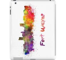 Fort Wayne skyline in watercolor iPad Case/Skin
