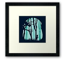 Down in forest Framed Print