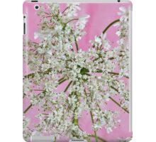 White Wild Cow Parsnip Flower iPad Case/Skin