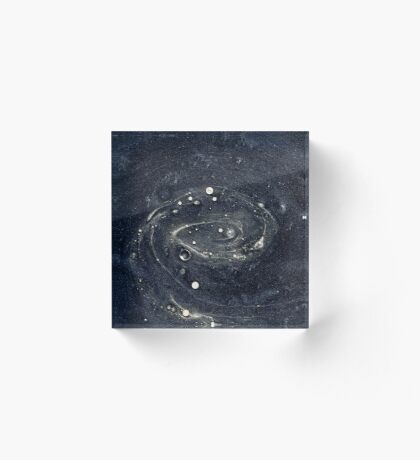 Galaxy Mix Acrylic Block