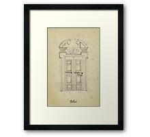 Italian old vintage door grapgics Framed Print