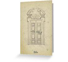 Italian old vintage door grapgics Greeting Card