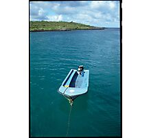 Our dinghy in the Galapagos Photographic Print