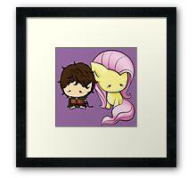 Frodo & Fluttershy Framed Print
