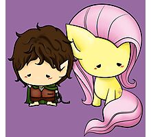 Frodo & Fluttershy Photographic Print