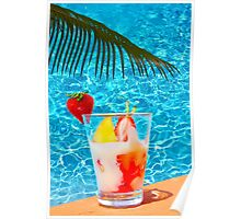 Tutti frutti ice cream by the pool in Mombasa, Kenya Poster