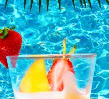 Tutti frutti ice cream by the pool in Mombasa, Kenya Sticker