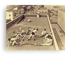 Vintage Roof Top Boxing Canvas Print