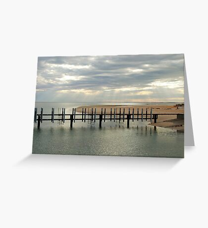 Monkey Mia Jetty Greeting Card