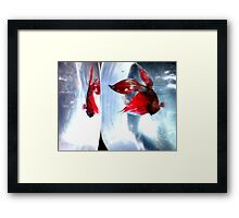Fight Reaction Framed Print