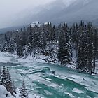 Icy Bow river by zumi