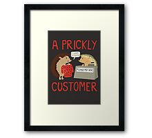 A Prickly Customer Framed Print
