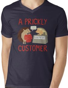 A Prickly Customer Mens V-Neck T-Shirt