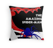 Amazing Spider-Man Pulp Poster Throw Pillow