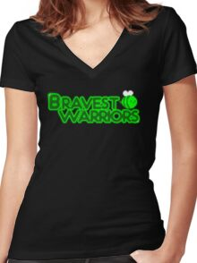 Bravest Warriors Women's Fitted V-Neck T-Shirt