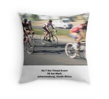 The 94.7 Race - Intermediate Group. Throw Pillow