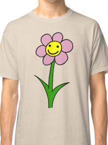 Happy smiling flower - pink petals Classic T-Shirt