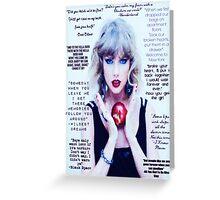 Taylor Swift 1989 Lyrics Part 2 Greeting Card