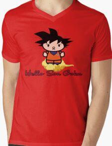 Hello Son Goku, Dragonball Z Mens V-Neck T-Shirt