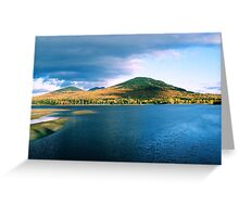 Across Flagstaff Lake (Autum) Greeting Card