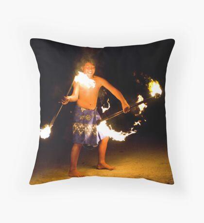 Fire Prince Throw Pillow