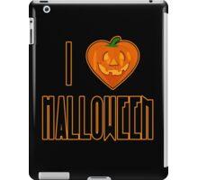 I Love Halloween I Heart Halloween with Pumpkin iPad Case/Skin