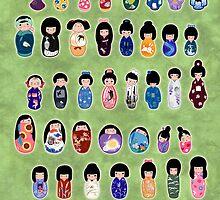 Creative Kokeshi & Kimono Designs by Joumana Medlej