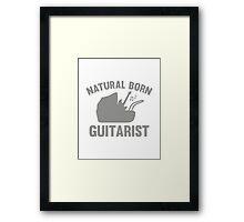 Natural Born Guitarist Framed Print