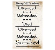 Henry VIII's Six Wives Photographic Print