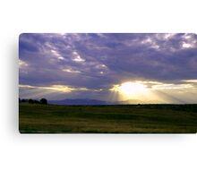 Sun Through the Clouds Canvas Print