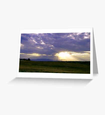 Sun Through the Clouds Greeting Card