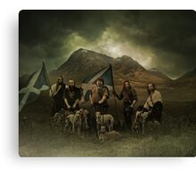 a scott black improvement!..a big scottish hunt! Canvas Print