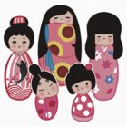 Kokeshi in Pink by Joumana Medlej