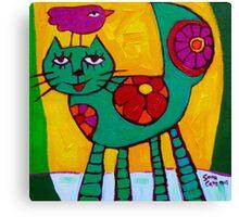 THE  LOVE  CAT  Canvas Print